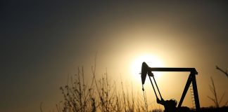 SWEETWATER, TX - JANUARY 19: An oil pumpjack works on January 19, 2016 in Sweetwater, Texas. Global oil prices continue their downward fall with U.S. oil dropping towards $27 a barrel, its lowest since 2003, on worries about global oversupply. Following a diplomatic agreement on nuclear fuel with America, Iran has forecast it will add 500,000 barrels per day to global production, following the lifting of sanctions. (Photo by Spencer Platt/Getty Images)