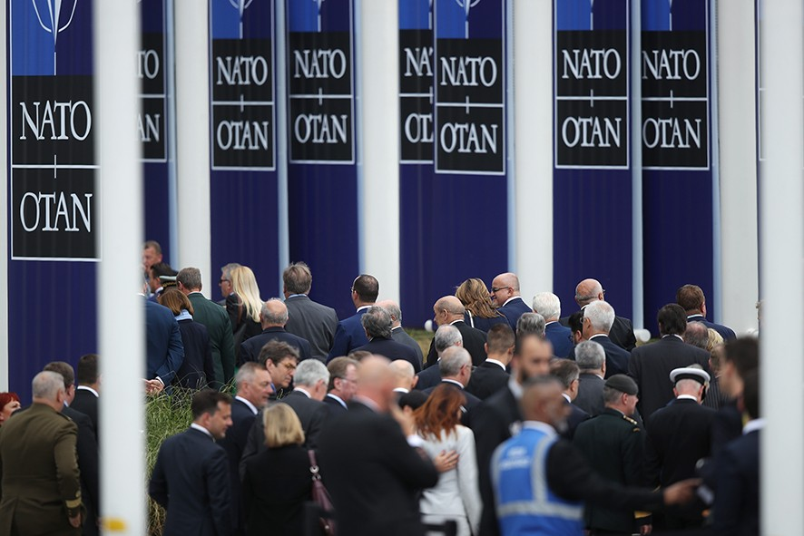 BRUSSELS, BELGIUM - JULY 11: Guests depart after attending the opening ceremony at the 2018 NATO Summit at NATO headquarters on July 11, 2018 in Brussels, Belgium. Leaders from NATO member and partner states are meeting for a two-day summit, which is being overshadowed by strong demands by U.S. President Trump for most NATO member countries to spend more on defense.  (Photo by Sean Gallup/Getty Images)