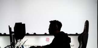 LEIPZIG, GERMANY - FEBRUARY 15: A participant sits at a computer monitor to play a video game at the 2019 DreamHack video gaming festival on February 15, 2019 in Leipzig, Germany. The three-day event brings together gaming enthusiasts mainly from German-speaking countries for events including eSports tournaments, cosplay contests and a LAN party with 1,500 participants. (Photo by Jens Schlueter/Getty Images)