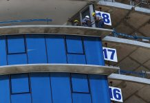 PUNTA DEL ESTE, URUGUAY - NOVEMBER 19: Construction workers work on the 18th floor of Trump Tower Punta del Este, a Trump-branded luxury tower under construction on November 19, 2018 in Punta del Este, Uruguay. The tower has been under construction since 2014 by YY Development Group. (Photo by Ronald Martinez/Getty Images)