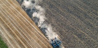 ESCHOLLBRUECKEN, GERMANY - AUGUST 06: A farmer prepares a wheat field for the next sowing on August 6, 2018 in Biebesheim near Darmstadt, Germany. Farmers are fighting against the long-lasting drought and heat as they are unable to irrigate their fields on a large scale, which is resulting in large crop failures and income for them. (Photo by Thomas Lohnes/Getty Images)