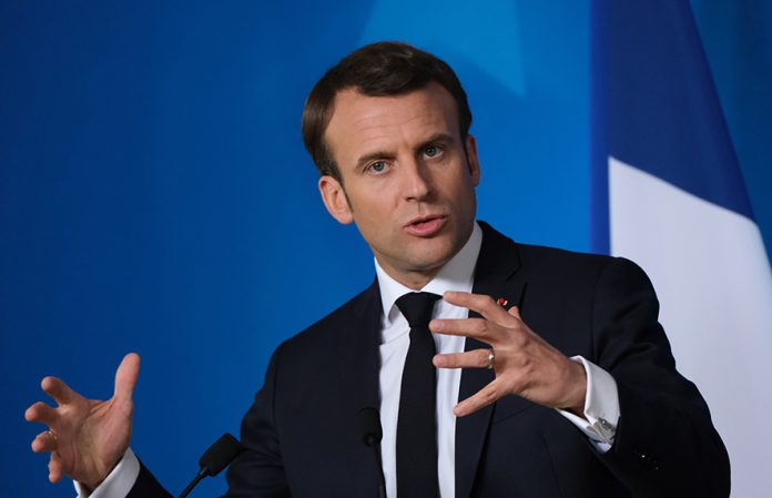 BRUSSELS, BELGIUM - MARCH 22: French President Emmanuel Macron speaks to the media at the conclusion of a two-day EU summit on March 22, 2019 in Brussels, Belgium. Yesterday leaders at the summit agreed on a format for granting the United Kingdom an extension beyond its original March 29 deadline for Brexit. (Photo by Sean Gallup/Getty Images)