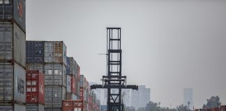 MEXICO CITY, MEXICO - JUNE 07: A view of Export freight containers with Mexican produced goods ready to be shipped to the US in the Pantaco customs complex on June 7, 2019 in Mexico City, Mexico. President Donald Trump's threatened to impose a 5-percent tariff on all imports to the United States if Mexico does not do more to restrict migrants from Central America from coming to the U.S. (Photo by Hector Vivas/Getty Images)