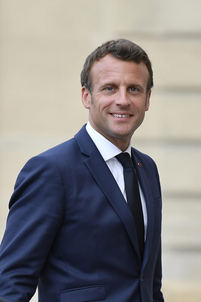 French President Emmanuel Macron looks as Ukrainian President Volodymyr Zelensky (not pictured) leaves after their meeting at the Elysee Palace in Paris, France, 17 June 2019. EPA/Julien de Rosa