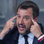 Italian Deputy Premier and Interior Minister, Matteo Salvini, speaks during the Raiuno Italian program 'Porta a porta' conducted by Italian journalist Bruno Vespa in Rome, Italy, 22 May 2019. EPA/MAURIZIO BRAMBATTI